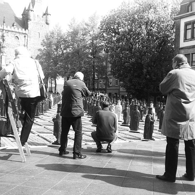 #Fotografen-#Auflauf bei #Kunstinstallation #MeinKarl anlässlich dem #Karlsjahr 2014 in #Aachen. Instagram