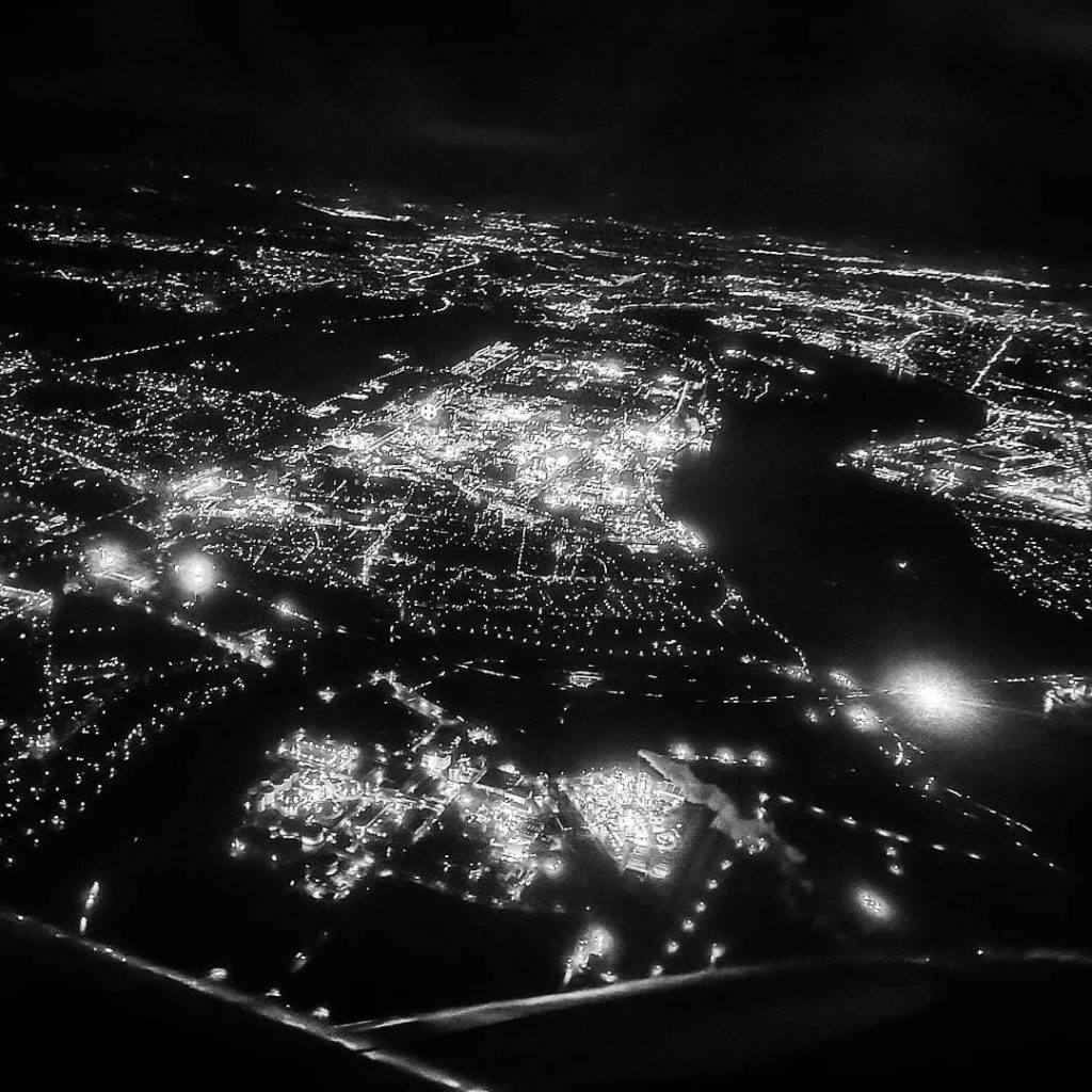 Leverkusen, as seen out of airplane